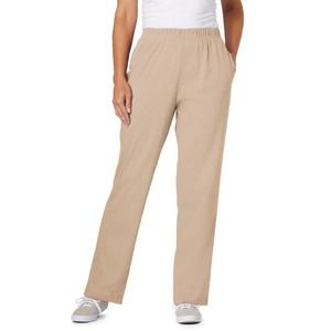 Woman Within Knit Pants in New Khaki 3X 30/32 Tall